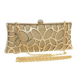 Wholesale Long Chain Handbags - Wholesale-Long Diamonds Tie Women Evening Bags 5 Colors Day Clutches Handbags With Chain Shoulder Evening Bags For Evening Dress Tote