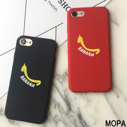 Wholesale Banana Phone Iphone Case - Top quality simple banana phone cases For Apple iPhone 6 Plants Banana Hard PC cover For iPhone 7   6 6S plus Fandas PH82