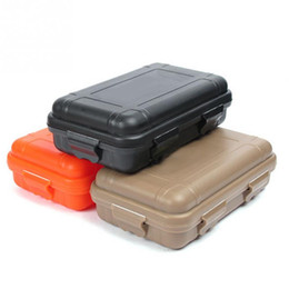 Wholesale Waterproof Box Case - New arrive S L Size Outdoor Plastic Waterproof Airtight Survival Case Container Camping Outdoor Travel Storage Box Hot sale