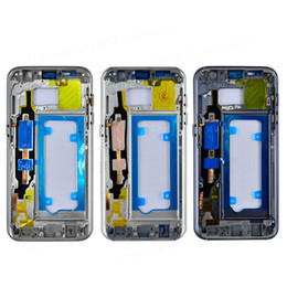 Wholesale Small Housed - Original Metal Middle Bezel Frame Case for Samsung Galaxy S7 G930 S7 Edge G935 Housing with Small Parts free DHL