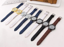 Wholesale Glass Table Watch - Wholesale 50pcs lot Mix 8Colors Fashion hollow watch non-mechanical why farewell to Roman number belt table Watch WR037