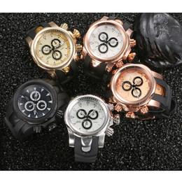 Wholesale Big Clock Digital - Fashion Men sports casual Watches Luxury Brand Big Face Clock Male watch Silicone Quartz Army Military Wrist Watch Relogio Masculino Gift