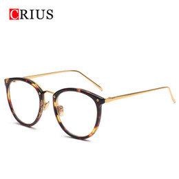 Wholesale Eyewear Glasses Nose - Wholesale- 2017 new CRIUS Brand design Metal nose pads women's optical glasses frame women glasses eyewear vintage eyeglasses high quality