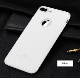 """Wholesale Cute Iphone Plugs - soft Back Cover For Apple iphone7 4.7"""" iphone 7 Plus Case Slim Silicone Logo Candy Cute Black Matte TPU Phone Case with dust plug"""
