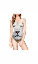 Wholesale Animal Print Monokini Swimwear - Wowforu Womens 3D Digital Printed One Piece Monokini Swimsuit Swimwear