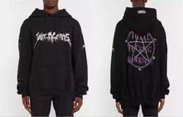 Wholesale Baggy Hoodies - Wholesale-new hot fashion rare new hiphop design darkness men unisex baggy oversized black hoodie Sweatshirts S-XL