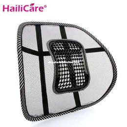 Wholesale Lumbar Support Massaging Car Seats - New Car Seat Chair Back Massage Black Lumbar Support Mesh Ventilate Cushion Pad for Office &Car seat home and truck chairs