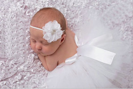 Wholesale Outfits Long Skirts - Cute Toddler Newborn Baby Girl Tutu Skirt & Headband Photo Prop Costume Outfit