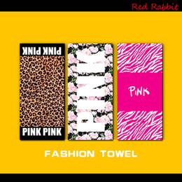 Wholesale Children Textile Wholesale - Fashion Pink Letter Beach Towel Fitness Sports Towel VS Bath Towel Leopard Flower Swimwear Bathroom Towels Yoga SPA Towels Home Textiles 605