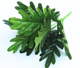 Wholesale Taro Wholesalers - Simulation leaf plant wall green leaf wall decoration decorated green leaves 9 spring taro leaves