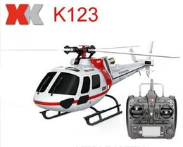 Wholesale Rc Helicopter Upgrades - Original XK BNF 6CH Brushless AS350 Scale 3D 6G System RC Helicopter Brushless Upgrade 3-Blade RTF Version WLtoys V931