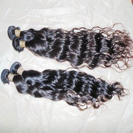 Wholesale Bouncy Wave Hair - Splendid Luster 8A Raw Virgin Water Wave Indian Bouncy Human Hair Beach Curl Bossy Wave 4 bundles 400g fast deals