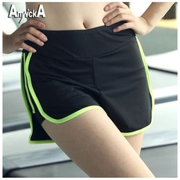 Wholesale Female Bodybuilding - Wholesale- AmynickA Running Shorts Women Elasticity Breathable Quick Dry Sport Shorts For Yoga Gym hiking Fitness Bodybuilding Female YR-1