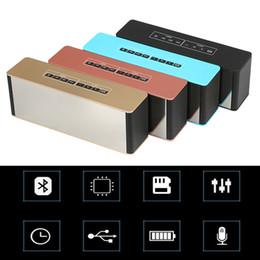 Receptor de alarme on-line-LP-06 Portátil Bluetooth Speaker Relógio Receptor Multifuncional Super Bass Alto-falantes Sem Fio Apoio TF FM Despertador DHL livre MIS151