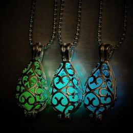 Wholesale Katherine Necklace - The Vampire Diaries necklace luminous stone Katherine Pierce moonstone Pendants Necklaces GLOW in the DARK amulet Sweater Chain