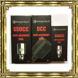 Wholesale Mini Coils Ohms - New Kanger SSOCC Vertical OCC Coils Subtank coil 0.5 ohm 1.2ohm 1.5ohm fit Kangertech Subtank Mini Topbox mini TopTank nano