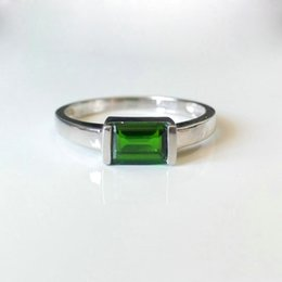 Wholesale Gold Plated Emerald Rings - 2017 new Classic 925 Solid Sterling Silver ring genuine natural Russia emerald jewelry fashion ring Charm Vintage Gift For Women