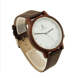 Wholesale Genuine Vision - ALK Vision Wood watch Unisex 2017 Fashion Wristwatch women mens watches top luxury brand genuine leather band clock