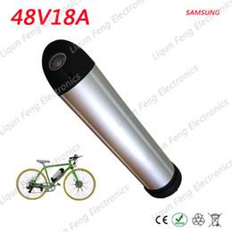 Wholesale 48v Battery Li Ion - 48V 18AH Electric Bike Lithium ion Battery 48V 18AH Kettle Water Bottle Ebike li-ion Battery use Samsung 3500MAH 18650 batteries