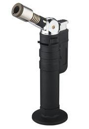 Argentina Al por mayor- Honest Flame Butane Jet Torch Encendedor ajustable, encendedor de llama multifuncional a prueba de viento de llama verde sin gas supplier wholesale butane windproof lighter Suministro