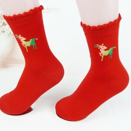 Wholesale Thick Red Wool Socks - Women's socks Cotton socks fashion printing knitted thick section socks autumn and winter Wool Casual Stockings 23