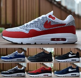 Wholesale Mens 87 - 2017 New Design Max 87 Ultra knits Running Shoes For Men,Mens Maxes 1 Fashion Athletic Man Sports Trainers Sneakers Shoe Size 40-45