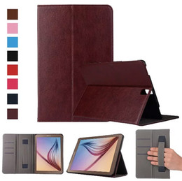 Wholesale Wholesale Wallets China - fashion multi-function hand strap wallet card slots folding folio case cover skin for Samsung Galaxy Tab S3 9.7 T820 case