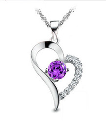 Wholesale Heart Tear - 2017 latest fashion lady Austrian diamond crystal angel tears statement pendant necklace jewelry suitable for plating lady necklace penda.
