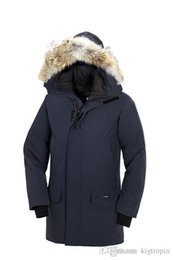 Wholesale Navy Blue Fur Coat - New Men's Fashion Down Jacket LANGFORD PARKA Winter Warm Thick Down Jacket Coats Fur Collar hooded Jackets Parkas Outlet Navy Blue XXXL