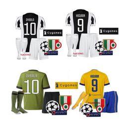 Wholesale Free Soccer Jerseys - 17 18 best quality DYBALA kit soccer Jerseys 2018 HIGUAIN Marchisio D.COSTA BONUCCI shirts Free shipping