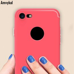 Wholesale Dust Plug Roses - For iphone7 iphone6 iphone 7 6 6S Case Bright Edge Soft Silicone Matte Shockproof 1.2mm Soft TPU Cover With Dust-proof Plug