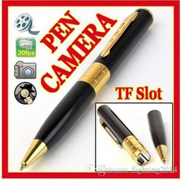 Wholesale Ball Audio - Spy camera pen HD 1280*960 Mini Pen camera audio video recoder Ball point Pen Hidden pinhole camera covert mini camcorder Security mini DVR