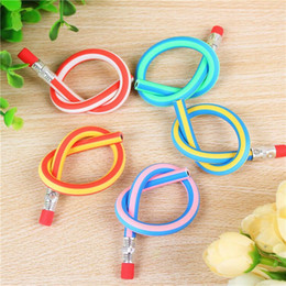Wholesale Loose Colorful - MAGIC Flexible Pencil Korea Cute Stationery Colorful Magic Bendy Flexible Soft Kids Students Pencil Gifts School Beginning
