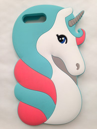 Wholesale Iphone Rubber Cartoon Cases - Cute 3D Cartoon Lovely Animal Design Soft Rubber Back Case Cover for iPhone 7 Plus 5.5''