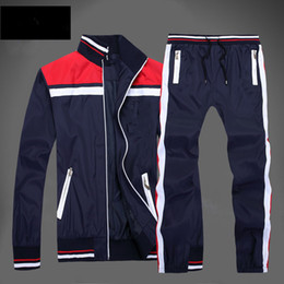 Wholesale Men Turtleneck Cotton - Free shipping Men's Hoodies and Sweatshirts Sportswear Man Polo Jacket pants Jogging Jogger Sets Turtleneck Sports Tracksuits Sweat Suits
