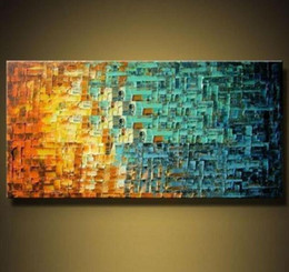 Wholesale Modern Abstract Huge Wall - Pure Hand Painted Modern Wall Decor Abstract HUGE Art Oil Painting On High Quality Thick Canvas.Multi customized sizes meii