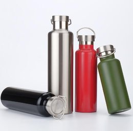 Wholesale Green Travel Mugs - Stainless Steel Cup Outdoor Sports Bottle Climbing Portable Large Capacity Water Bottles Travel Thermal Cup Leak Proof Mug