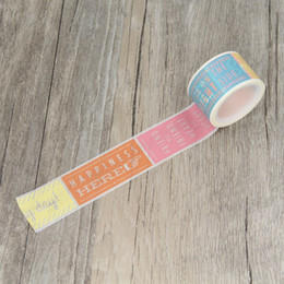 Wholesale Deco Labels - Wholesale- 2016 Wishes Happiness Friend Label Washi Tape Paper Masking Tapes Decorative Stickers Diary Deco Scrapbooking Sticker