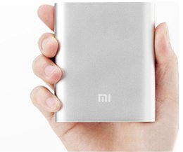 Wholesale Galaxy S4 Power - Xiaomi Mi 10400mAh Power Bank 5V 2A Portable Emergency Battery External Charger For iphone 5S 5C 6 7 8 Galaxy S4 S5 S8 Note 8 Tablet HTC