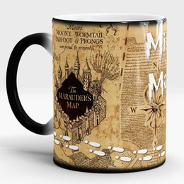 Wholesale Magic Map - Harry Potter Magic new Light Magic Marauders Map mischief managed mug Hot Cold Heat Temperature Sensitive Color-Changing Coffee Tea Mug Cup