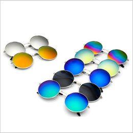 Wholesale copper mirror frame - 15 colors Sunglasses Retro Aviator Fashion Classic Eyeglasses Mirror Reflective Lens Sunglasses Vintage Outdoor Frog Unisex Sunglasses YYA90