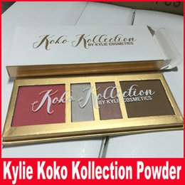 Wholesale Pressed Blush - Kylie In Love with the Koko 4 color Pressed Powder Palette Blush&Highlighter Contour Koko KOLLECTION By KYLIE Cosmetics