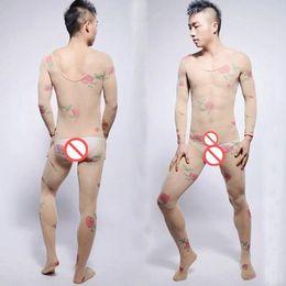 Wholesale Nylon Bodystockings - Super Sexy Men's Body Shapers See-thru Men's Bodysuit Body Stockings Bodystockings Gay Underwear Men Open-crotch Pantyhose Bodyhose