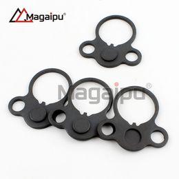 Wholesale Dual Loop - Magaipu Double Orifice Steel Sling Swivels Hunting AR End Plate Round Dual Loop Sling Adapter Right Left Handed Mount