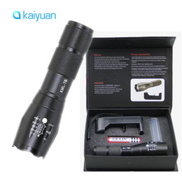Wholesale Xm L - LED Flashlight Ultrafire 2000 Lumens Zoom Adjustable CREE XM-L T6 LED 18650 Flashlight Torch & 1x18650 Battery + Charger & Gift Boxes