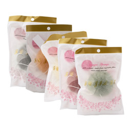 Wholesale Hot Cleaner - 10psc new Natural Konjac Sponge Facial Care Cleaning Washing Sponge Cosmetic Puff Whitening Deeply Cleansing Pores Sponge Puff hot