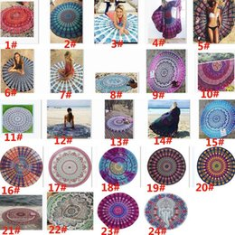 2017 Ronda Mandala Toallas de Playa Impresa Tapiz Hippie Boho Mantel Bohemia Toalla de Playa Servilletas Cubre Playa Chal Yoga XL-A190 desde fabricantes