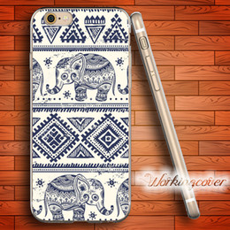 Wholesale Aztec Silicone Iphone Covers - Coque Aztec Elephant Soft Clear TPU Case for iPhone 7 6 6S Plus 5S SE 5 5C 4S 4 Case Silicone Cover.