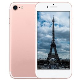 Wholesale Gps Bluetooth Inch - ERQIYU goophone i7 plus octa core 5.5 4.7 inch MTK6573 android 6.0 shown 4G LTE 64GB ROM unlocked cell phone