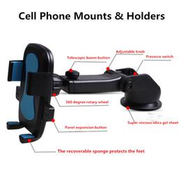 Wholesale Kinds Cell Phones - Hot Sales Of 2 Kinds Of Design 4 Color Car Phone Holder Universal Car Auto Cell Phone Holder Magnetic Cell Phone Car Mount